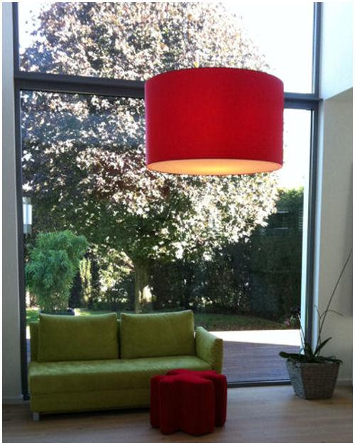 Rote Deckenlampe Privathaushalt In Hofheim
